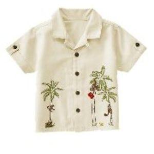Janie and Jack World Traveler Monkey Shirt  2T